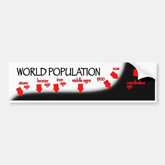 World Population Timeline Bumper Sticker