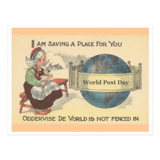 World Post Day Postcard