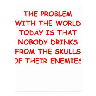 world problems postcard