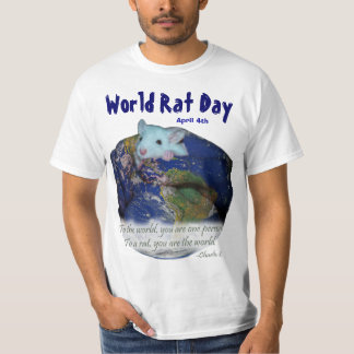 World Rat Day Shirt -- for light colored shirts