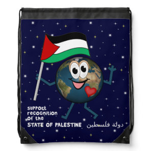 World Recognition of Palestinian Statehood Drawstring Backpack