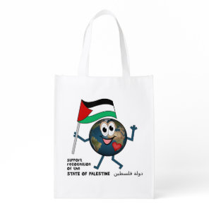 World Recognition of Palestinian Statehood Grocery Bag