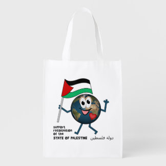 World Recognition of Palestinian Statehood Grocery Bags