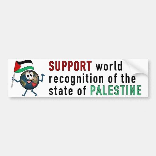 World Recoqnition of Palestinian Statehood Bumper Sticker