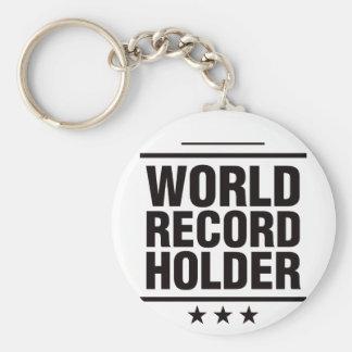 World Record Holder! Basic Round Button Keychain