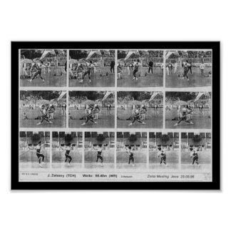 World Record Javelin Print