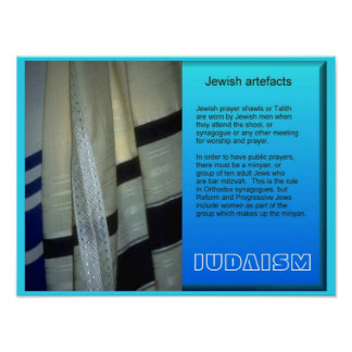 World Religions, Jewish artefacts Poster