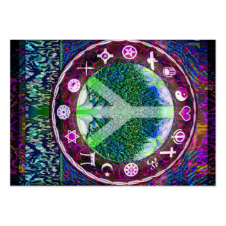 World Religions Peace Tree of Life Mandala Business Card Templates