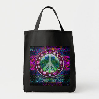 World Religions Peace Tree of Life Mandala Tote Bag