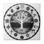 "World Religions Tree of Life Ceramic Tile<br><div class=""desc"">World Religions Tree of Life</div>"