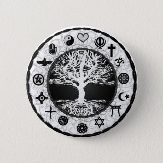 World Religions Tree of Life Pinback Button