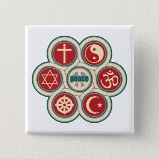 World Religious Peace Button