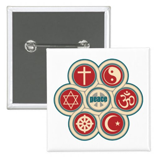 World Religious Peace Buttons