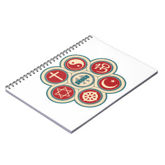 World Religious Peace Spiral Notebook