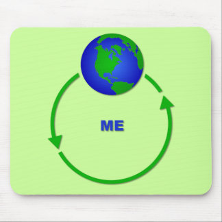 World Revolves Around Me Funny Mousepad Humor