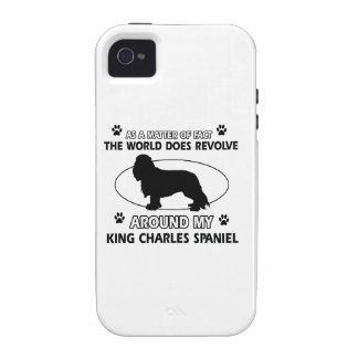 World revolves around my king charles spaniel iPhone 4/4S cases