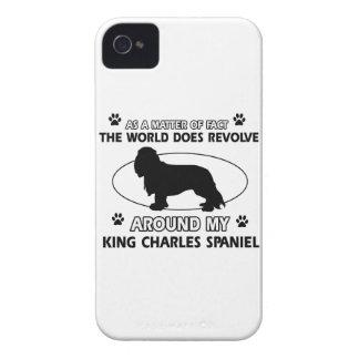 World revolves around my king charles spaniel iPhone 4 Case-Mate case