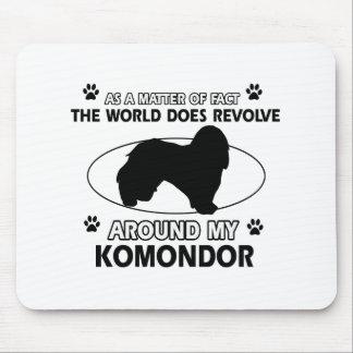 World revolves around my komondor mouse pad