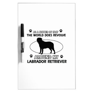 World revolves around my labrador retriever Dry-Erase whiteboards