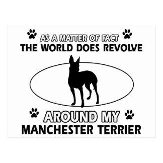 World revolves around my Manchester terrier Postcard