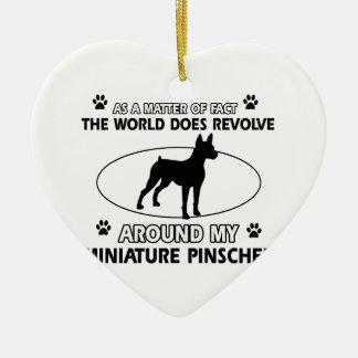 World revolves around my miniature pinscher ceramic ornament