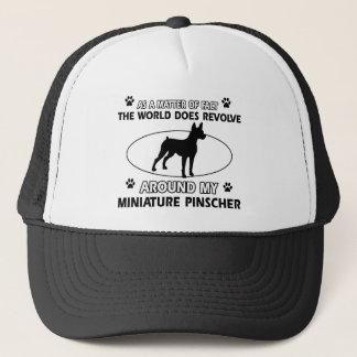 World revolves around my miniature pinscher trucker hat