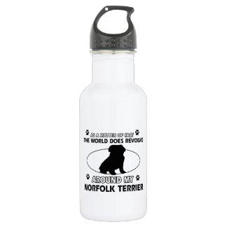 World revolves around my norfolk terrier 18oz water bottle
