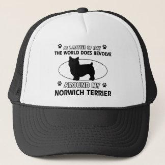 World revolves around my norwhic terrier trucker hat