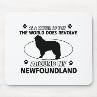 World revolves around my nowfoundland mouse pad