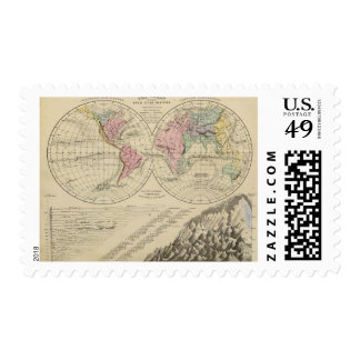 World, river systems postage