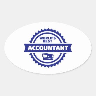 World's best accountant oval sticker