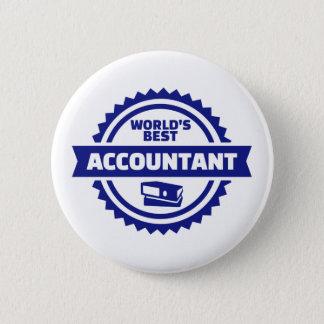 World's best accountant pinback button