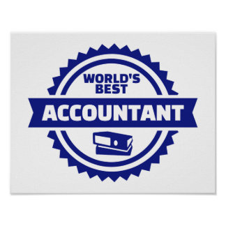 World's best accountant poster
