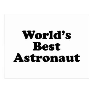 World s Best Astronaut Postcard