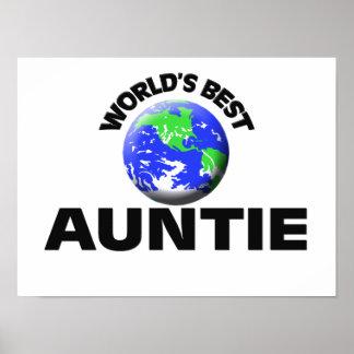 World s Best Auntie Poster