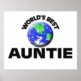 World s Best Auntie Print