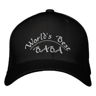 World s Best BABA Embroidered Hats