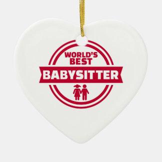 World's best babysitter ceramic ornament