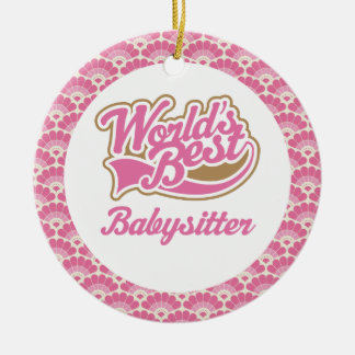 World's Best Babysitter Gift Ornament