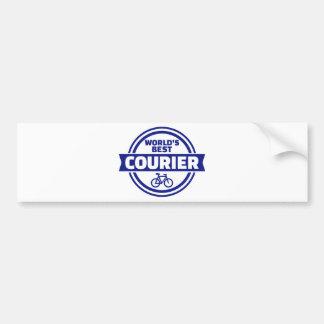 World's best bike courier bumper sticker