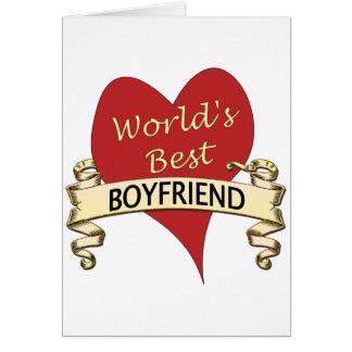 World s Best Boyfriend Card