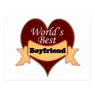 World s Best Boyfriend Postcards