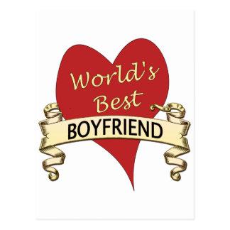 World s Best Boyfriend Post Card