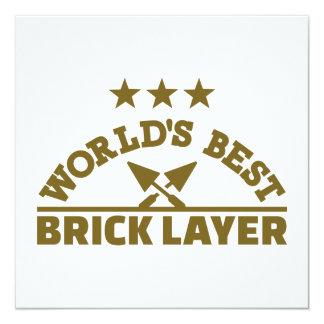 World's best brick layer card