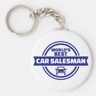 World's best car salesman keychain