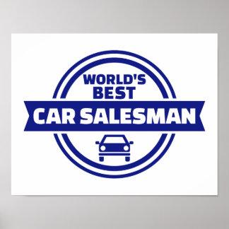 World's best car salesman poster