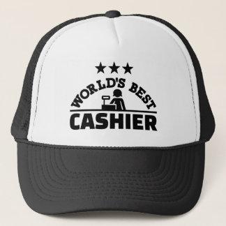 World's best cashier trucker hat