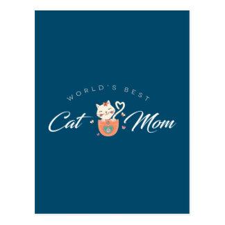 World's Best Cat Mom for Kitten Mothers Postcard