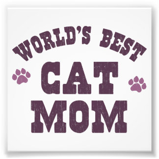 World s Best Cat Mom Photograph