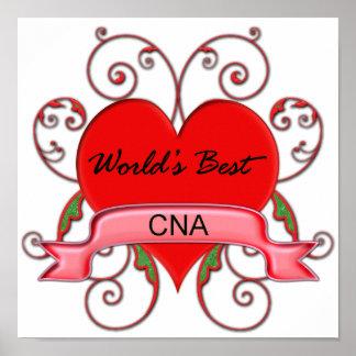 World s Best CNA Print